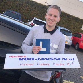 Geslaagd bij Rijschool Rob Janssen